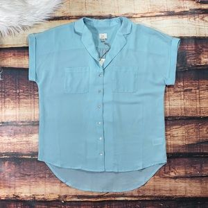 A New Day Womens Button Down Summer Blouse